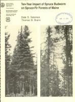 Ten year Impact of Spruce Budworm on Spruce fir Forests of Maine PDF