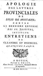 Apologie des Lettres Provinciales