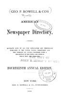 Rowell s American Newspaper Directory PDF