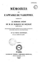 Mémoires du marquis de Bouillé,...