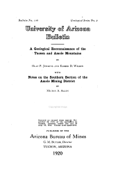 Bulletin - Arizona State Bureau of Mines: Issue 106