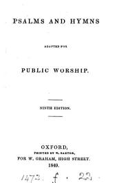 Psalms and hymns adapted for public worship