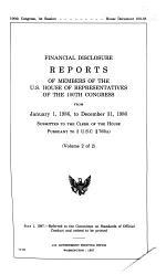 Financial Disclosure Reports of Members of the U.S. House of Representatives of the 100th Congress from January 1, 1986, to December 31, 1986 Submitted to the Clerk of the House Pursuant to 2 U.S.C. [section] 703(a).