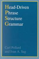 Head Driven Phrase Structure Grammar PDF