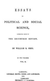 Essays on Political and Social Science ...