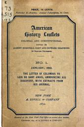 American History Leaflets: Colonial and Constitutional, Issues 1-12