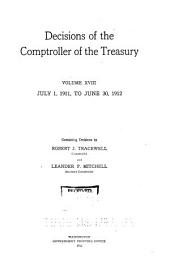 Decisions of the Comptroller of the Treasury: Volume 18