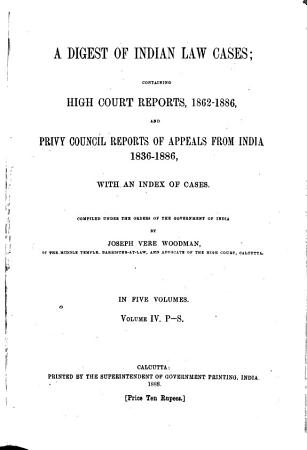 Digest of Indian Law Cases PDF