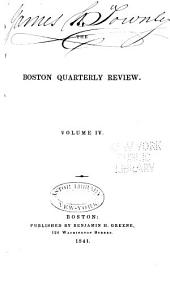 The Boston Quarterly Review: Volume 4