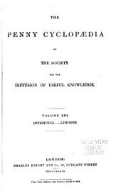Penny Cyclopaedia of the Society for the Diffusion of Useful Knowledge: Volumes 13-14
