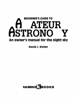 Beginner s Guide to Amateur Astronomy PDF