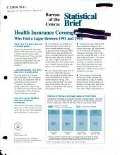 Health insurance coverage: who had a lapse between 1991 and 1993?