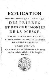 Explication littérale, historique et dogmatique des prières et des cérémonies de la messe, par Pierre Lebrun