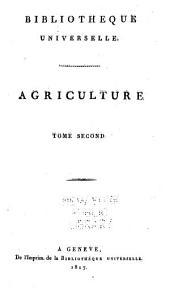 Bibliothèque universelle des sciences, belles-lettres, et arts: Agriculure, Volume2