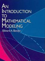 An Introduction to Mathematical Modeling PDF