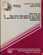 Survey of Soil Map Unit Sensitivity to Acid Deposition in the Sierra Nevada  California PDF