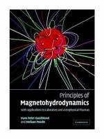 Principles of Magnetohydrodynamics