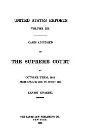 United States Reports: Cases Adjudged in the Supreme Court, Volume 253