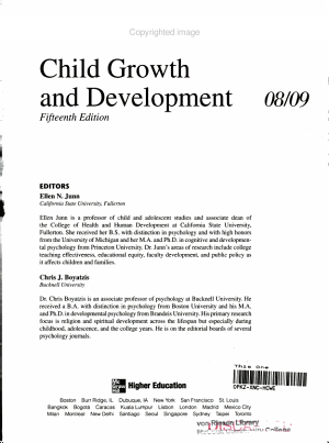 Annual Editions: Child Growth and Development 08/09