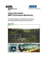 Urban stormwater BMP performance monitoring a guidance manual for meeting the national stormwater BMP database requirements  PDF