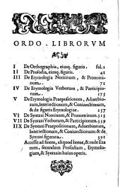 Quaestionum grammaticarum libri VIII.