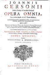 Ioannis Gersonii Opera omnia: Volume 4