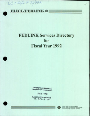 FEDLINK Services Directory for Fiscal Year     PDF