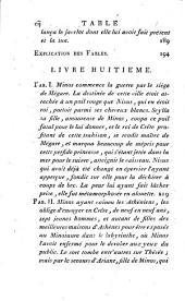 Œuvres complettes d'Ovide: traduites en français; auxquelles on a ajouté la vie de ce poëte; les Hymnes de Callimagne; le Pervigilium Veneris; L'Epitre de Lingendes sur l'exil d'Ovide; et la traduction en vers de la belle Elégie d'Ovide sur son départ, par LeFranc de Pompignan