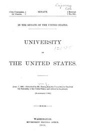 University of the United States: April 1, 1902