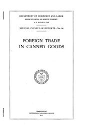 Foreign Trade in Canned Goods