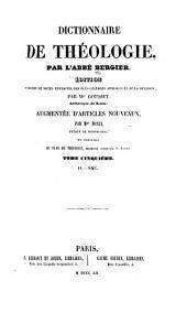 Dictionnaire de théologie: Volume5