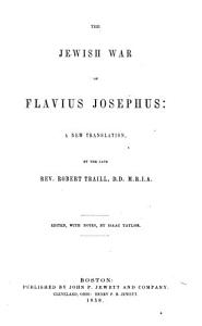 The Jewish War of Flavius Josephus Book