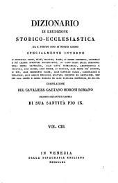 Dizionario Di Erudizione Storico-Ecclesiastica Da S. Pietro Sino Ai Nostri Giorni (etc.)