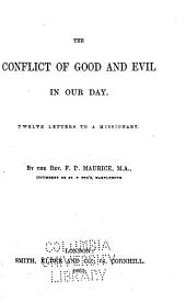 The Conflict of Good and Evil in Our Day: Twelve Letters to a Missionary