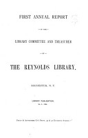 Annual Report of the Reynolds Library  Rochester  N Y   for the Year Ending     PDF