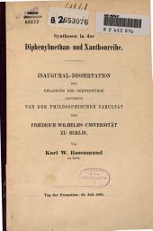 Synthesen in der Diphenylmethan- und Xanthonreihe