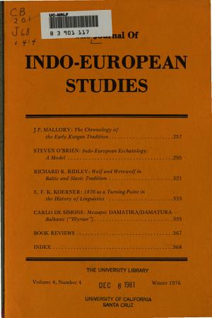 The Journal of Indo European Studies PDF