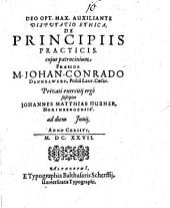 Disputatio Ethica De Principiis Practicis