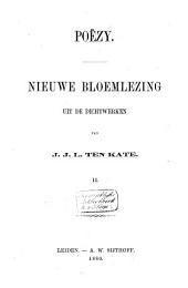 Poëzy: nieuwe bloemlezing uit de dichtwerken van J.J.L. ten Kate, Volume 2