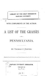 A List of the Grasses of Pennsylvania