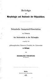 Beitraege zur Morphologie und Anatomie der Rhipsalideen: Inaug. Diss