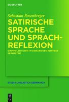 Satirische Sprache und Sprachreflexion PDF