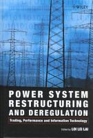 Power System Restructuring and Deregulation PDF