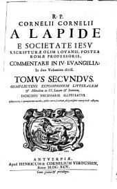 Commentarius in quatuor evangelia: Complectens expositionem litteralem et moralem in SS. Lucam et Ioannem, Volume 2