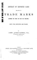 Abstract of Reported Cases Relating to Trade Marks PDF