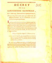Decret de la Convention Nationale: Volume 1308