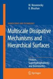 Multiscale Dissipative Mechanisms and Hierarchical Surfaces: Friction, Superhydrophobicity, and Biomimetics