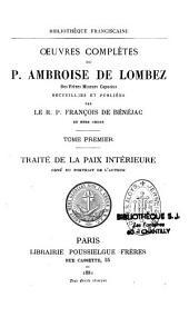 Oeuvres complètes du Père Ambroise de Lombez, recueillies et publiées par le R.P. François de Bénéjac, du même ordre
