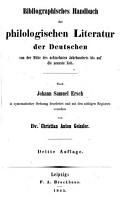 Bibliographisches Handbuch der philologischen literatur PDF
