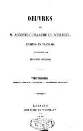 Oeuvres de M. Auguste Guillaume de Schlegel écrites en français: Volume3